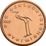 1 cent (other side, country Slovenia) 0.01